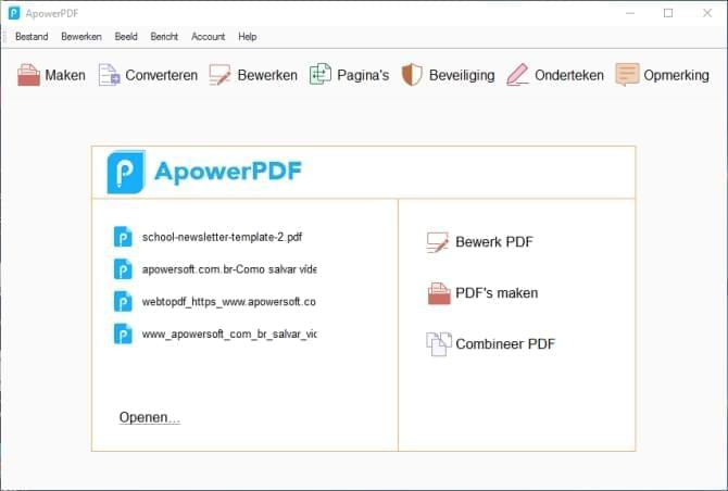 ApowerPDF interface